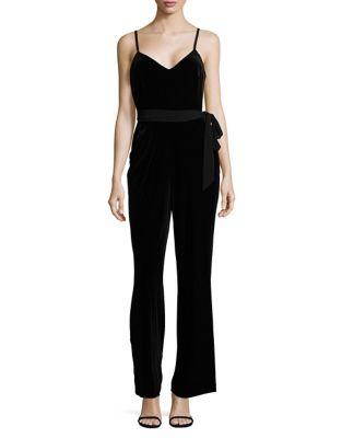 Sleeveless Velvet Jumpsuit by Calvin Klein