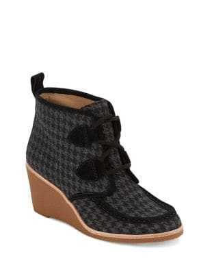 Rosa Textile Wedge Boots by G.H. Bass