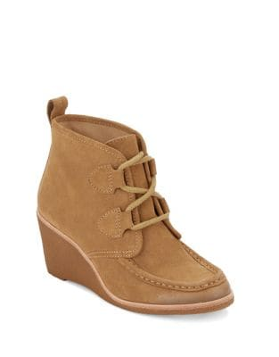 Rosa Suede Wedge Boots by G.H. Bass