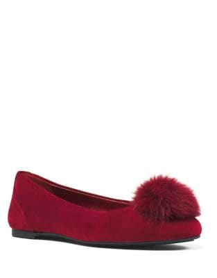 Remi Suede and Rabbit Fur Ballet Flats by MICHAEL MICHAEL KORS