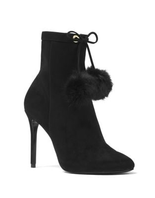 Remi Rabbit Fur Suede Booties by MICHAEL MICHAEL KORS