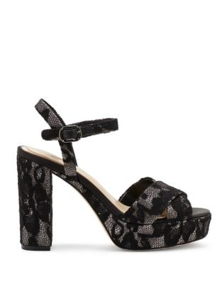 Floral Lace Ankle Strap Sandal by Imagine Vince Camuto