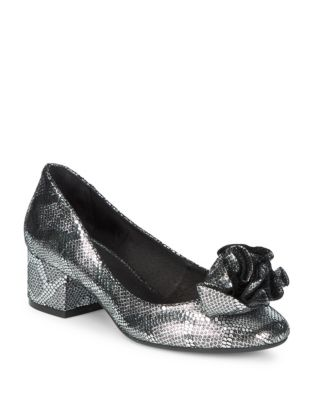 Lilly Metallic Leather Pumps by Cecelia New York