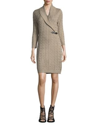 Buckle Front Sweater Dress by Calvin Klein