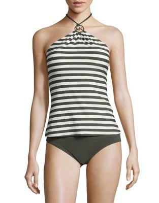 Striped Tankini Top @...