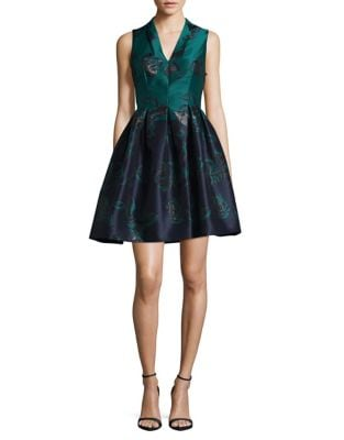 Floral Fit-&-Flare Dress by Vince Camuto