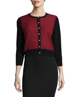 Tweed-knit Cardigan by Karl Lagerfeld Paris