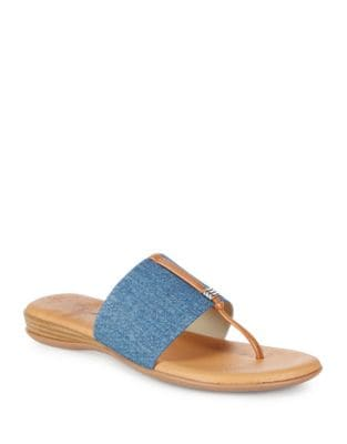 Nice Denim Thong Sandals by Andre Assous