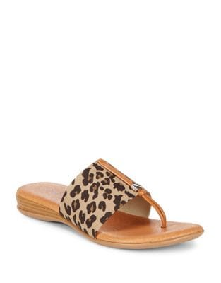 Leopard Thong Sandals by Andre Assous