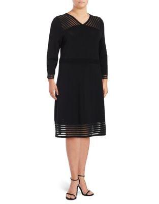 Plus Long Sleeve Dress by Calvin Klein