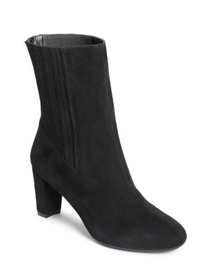 Fifth Avenue Suede Booties by Aerosoles