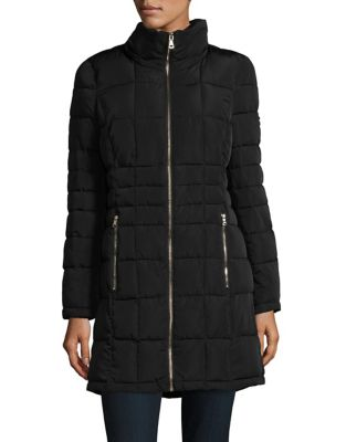 Faux-Fur Hood Quilted Coat 500087581045