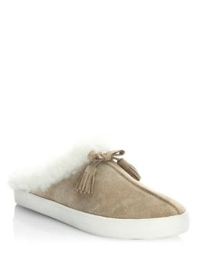Limon Shearling and Suede Sneakers by Kate Spade New York