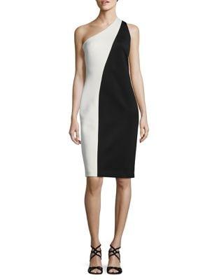 One-Shoulder Sheath Dress by Calvin Klein