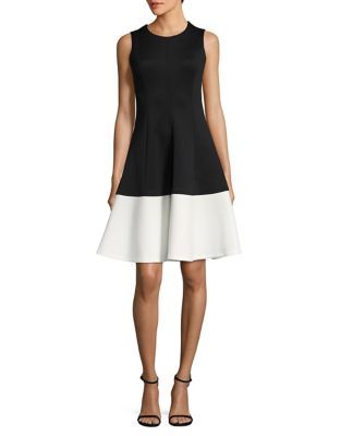 Chic Fit-&-Flare Dress by Calvin Klein