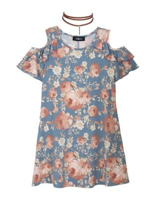 Girls Floral Print Top