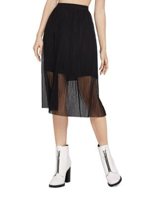 Mesh Midi Skirt @...