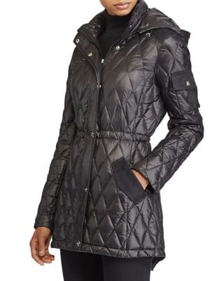 Hooded Packable Quilted Coat 500087586402