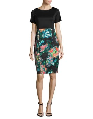 Festive Bouquet Sheath Dress by Adrianna Papell