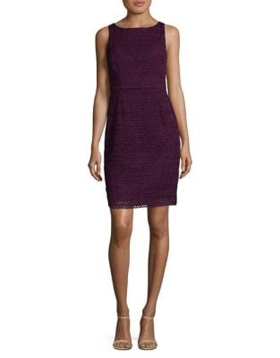 Julia Fringe Lace Sheath Dress by Adrianna Papell