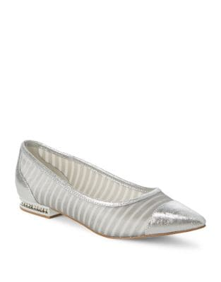 Metallic Leather Flats by Adrianna Papell
