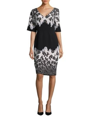Floral Sheath Dress by Adrianna Papell