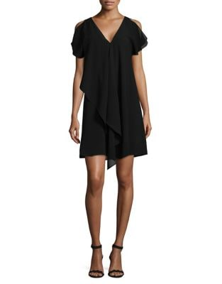 Cold-Shoulder Shift Dress by Adrianna Papell