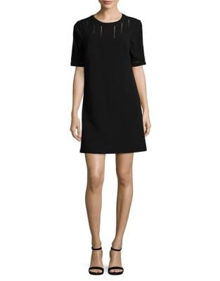 Textured Crepe Shift Dress by Adrianna Papell