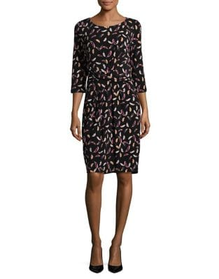 Multicolor Leaf-Print Dress by Adrianna Papell