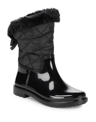 Reid Mixed Media Faux Fur Boots by Kate Spade New York