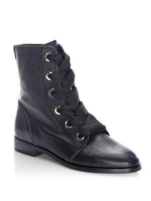 Raquel Leather Lace-Up Boots by Kate Spade New York
