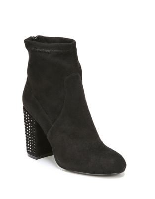Suede Embellished Booties by Fergie