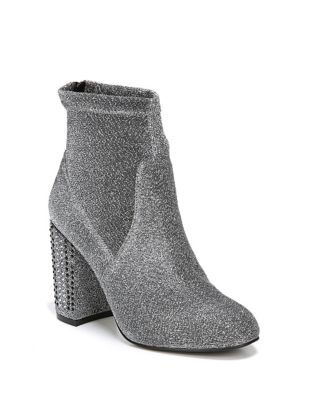 Textured Lurex Embellished Booties by Fergie