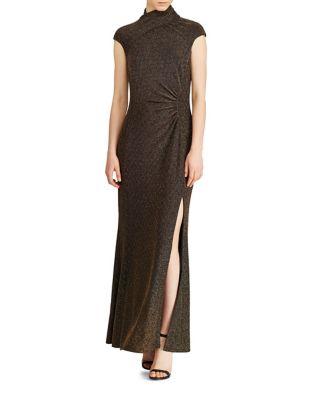 Metallic Ruched Gown by Lauren Ralph Lauren