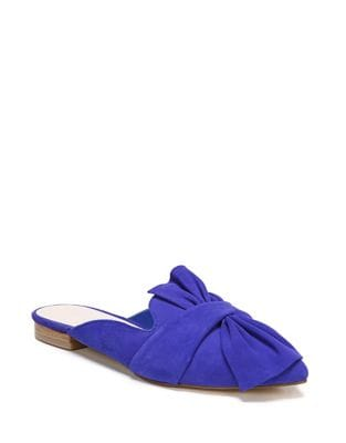 Bow Suede Mules by Fergie