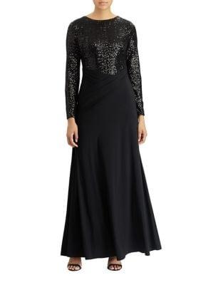 Sequined Jersey Gown by Lauren Ralph Lauren