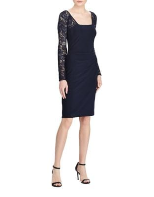 Lace Sleeve Sheath Dress by Lauren Ralph Lauren