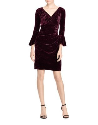 Bell Sleeve Velvet Dress by Lauren Ralph Lauren