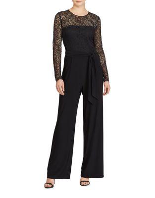 Lace Long Sleeve Jumpsuit by Lauren Ralph Lauren