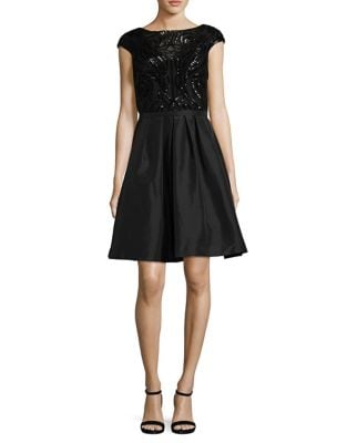 Pleated A-Line Dress by Calvin Klein