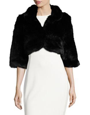 Faux Fur Shrug by Calvin Klein
