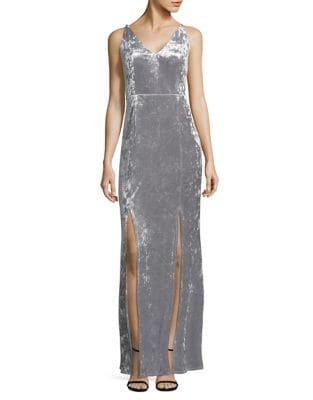 Velvet Column Dress by Calvin Klein