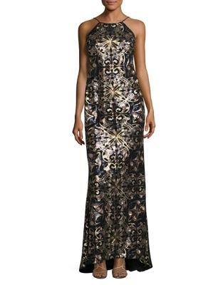 Halter Sequin Gown by Calvin Klein