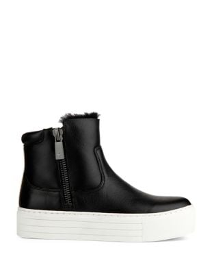 Janel Leather Booties by Kenneth Cole New York