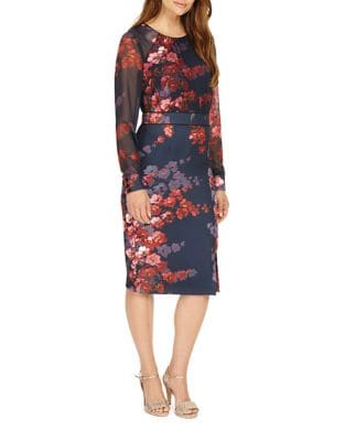 Floral Sheer Dress by Phase Eight