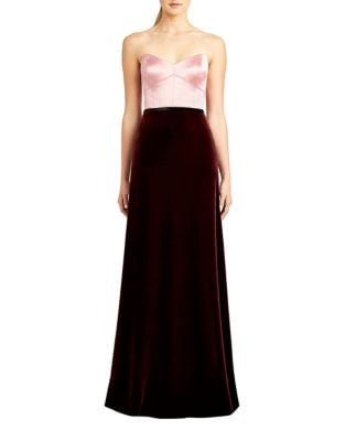 Strapless Floor-Length Gown by Jill Jill Stuart