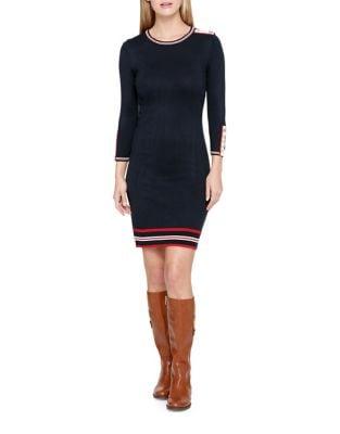 Striped Sweater Dress by Tommy Hilfiger