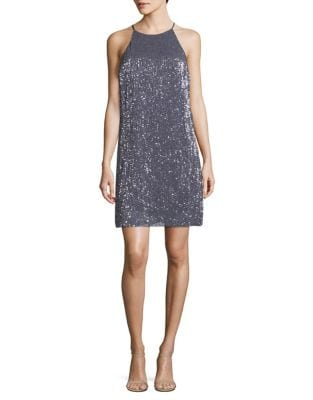 Sleeveless Sequin Cocktail Dress by H Halston