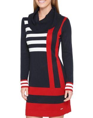 Cowlneck Sweater Dress by Tommy Hilfiger
