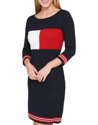 Colorblock Sweater Dress by Tommy Hilfiger